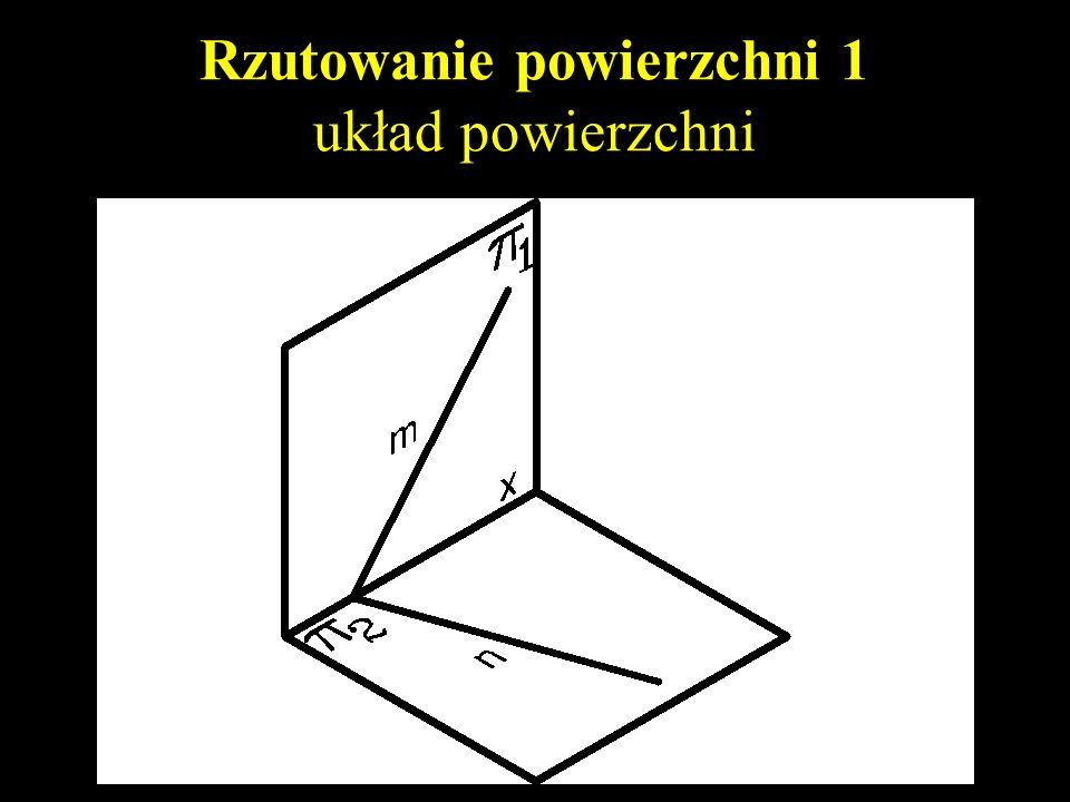 Rzutowanie powierzchni 1 powierzchnia dowolna, prosta i punkt