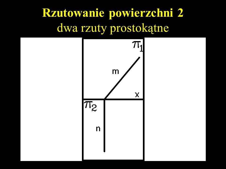 Rzutowanie powierzchni 2 dwa rzuty prostokątne