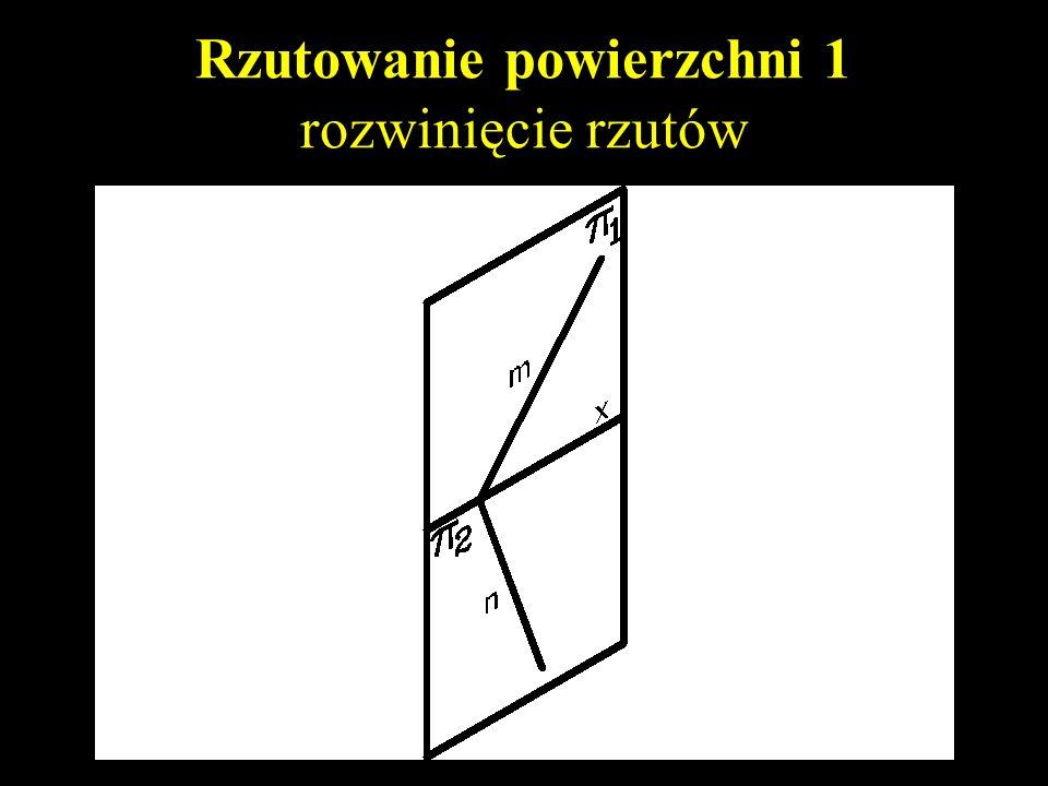 Rzutowanie powierzchni 1 prosta i punkt definiujące powierzchnię