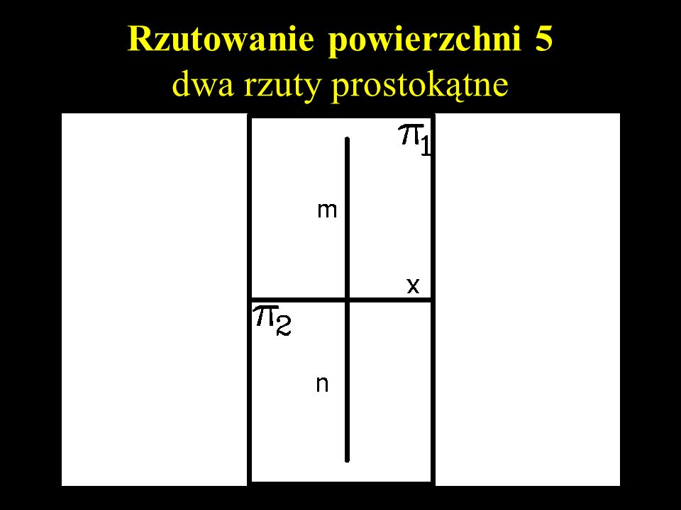 Rzutowanie powierzchni 5 dwa rzuty prostokątne