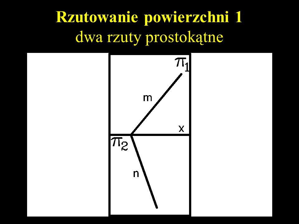 Rzutowanie powierzchni 1 zapis powierzchni dwoma krawędziami