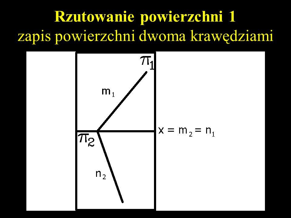 Rzutowanie powierzchni 1 zapis powierzchni trzema punktami