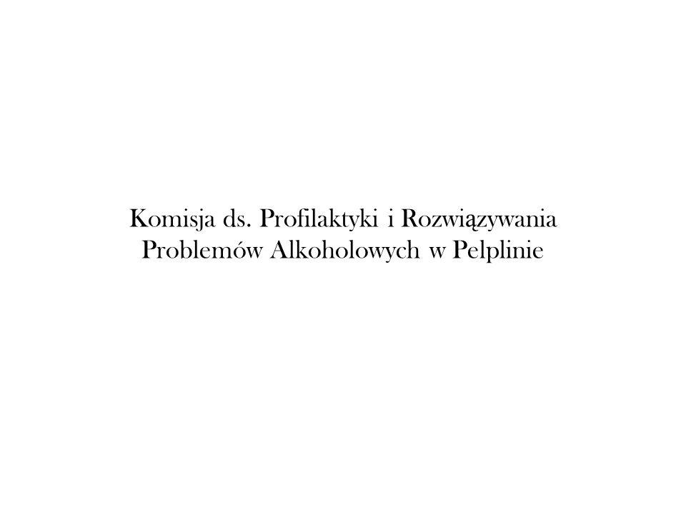 Komisja ds. Profilaktyki i Rozwi ą zywania Problemów Alkoholowych w Pelplinie
