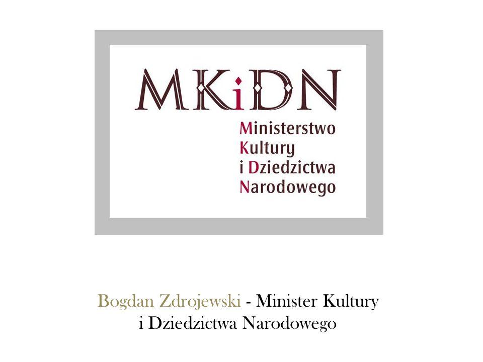 Bogdan Zdrojewski - Minister Kultury i Dziedzictwa Narodowego