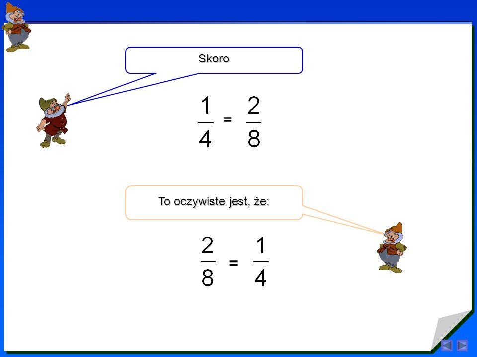 Rozszerzyć ułamek oznacza pomnożyć jego licznik i mianownik przez tę samą liczbę różną od zera.