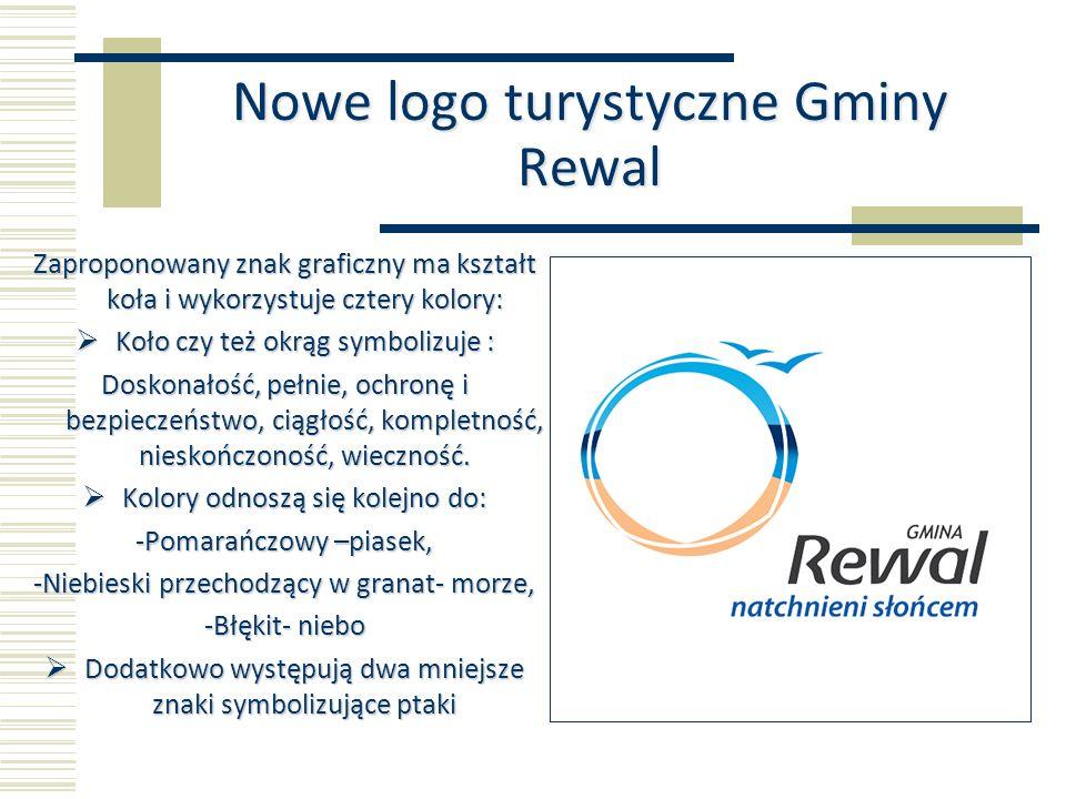 Nowe logo turystyczne Gminy Rewal Zaproponowany znak graficzny ma kształt koła i wykorzystuje cztery kolory: Koło czy też okrąg symbolizuje : Koło czy