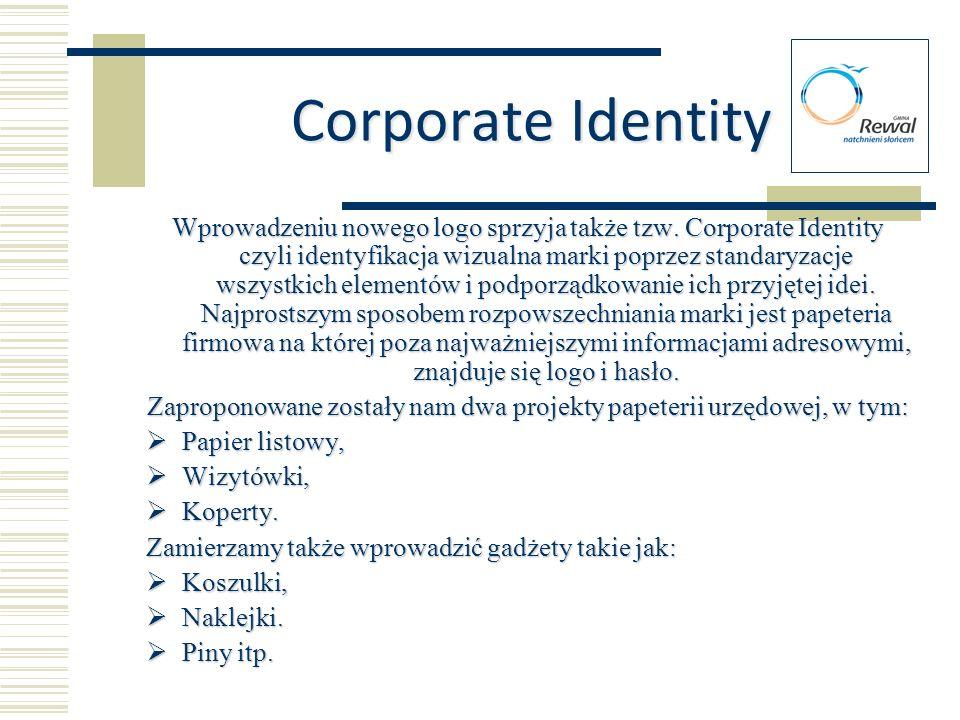 Corporate Identity Wprowadzeniu nowego logo sprzyja także tzw. Corporate Identity czyli identyfikacja wizualna marki poprzez standaryzacje wszystkich