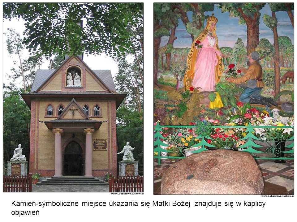 Kamień-symboliczne miejsce ukazania się Matki Bożej znajduje się w kaplicy objawień