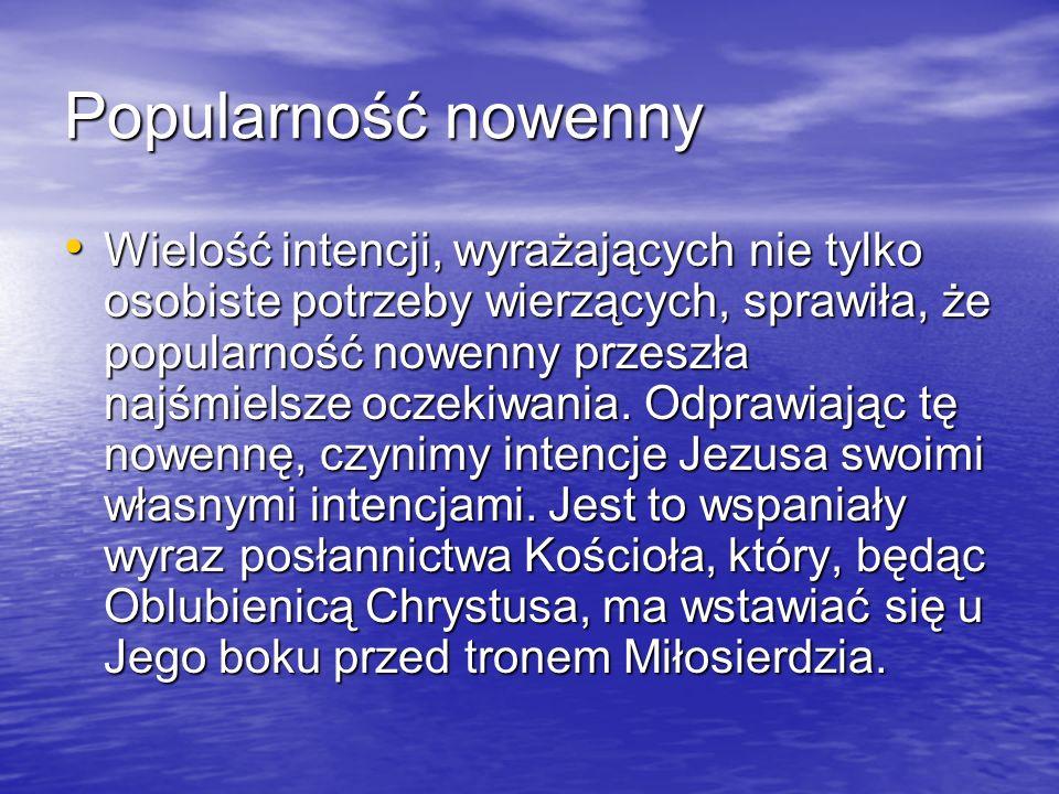 Dwie nowenny (?) W literaturze spotykamy się z rozróżnieniem nowenny, którą miała odmawiać siostra Faustyna i nowenny Koronek.