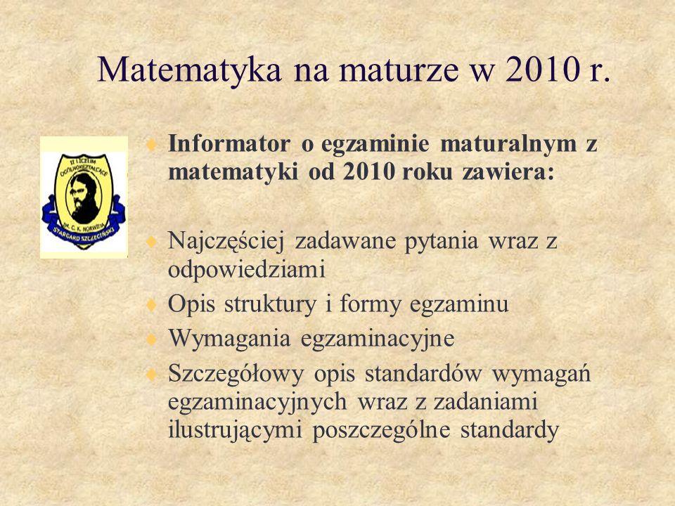 Matematyka na maturze w 2010 r.
