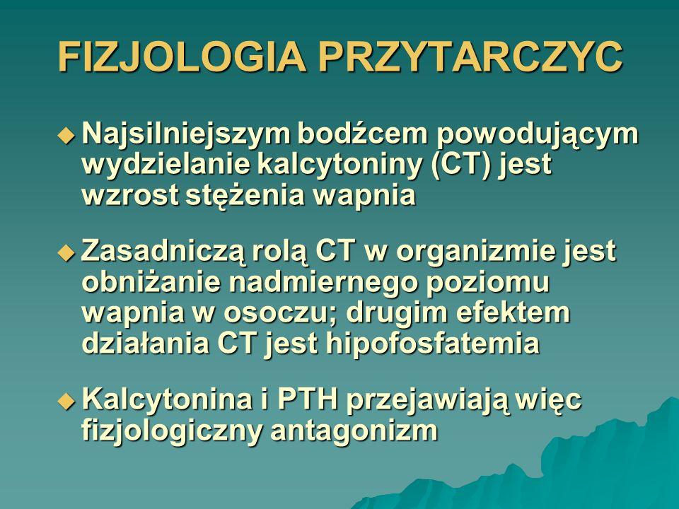 NADCZYNNOŚĆ PRZYTARCZYC Nadczynność pierwotna przytarczyc (pHPT) jest stanem, w którym parathormon (PTH) wydzielany jest autonomicznie w ilości przekraczającej zapotrzebowanie ustroju, powodując zaburzenie sprzężenia zwrotnego między poziomem wapnia a PTH