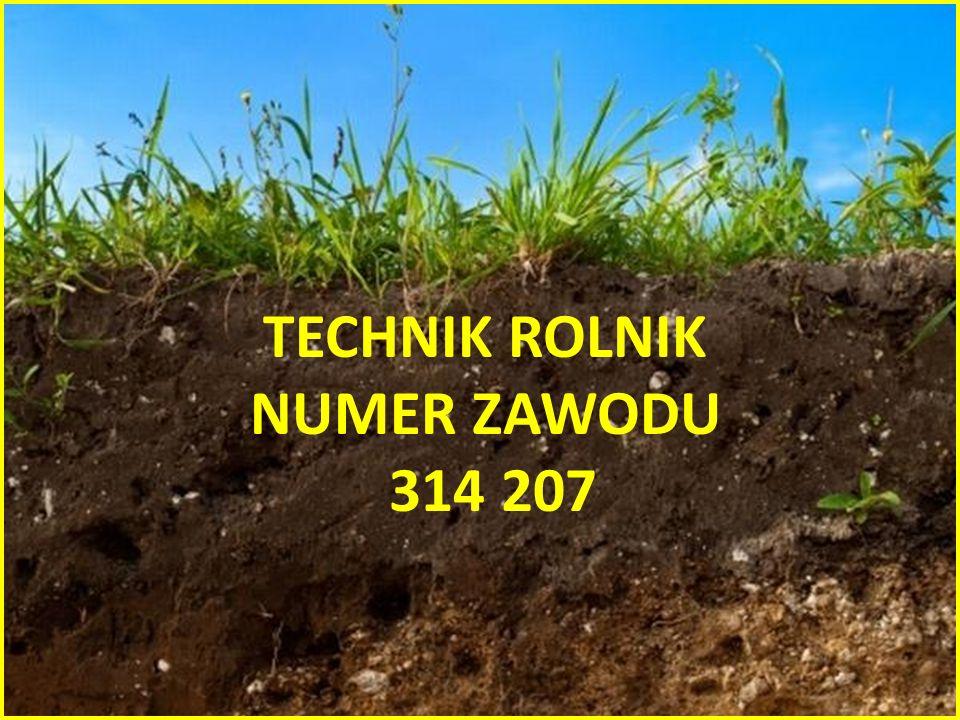 TECHNIK ROLNIK NUMER ZAWODU 314 207