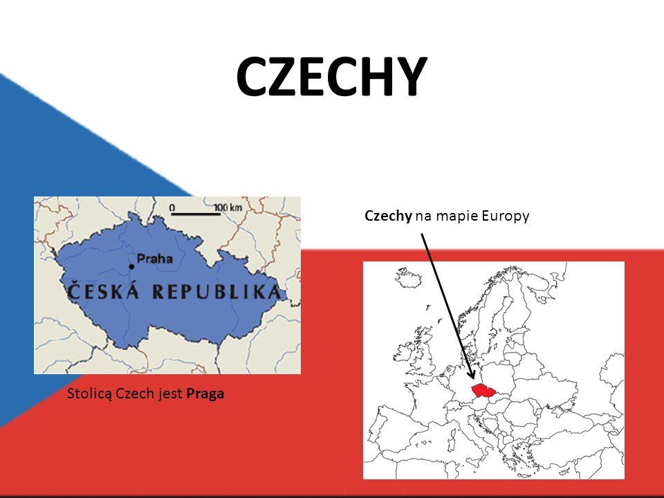 Czechy na mapie Europy Stolicą Czech jest Praga