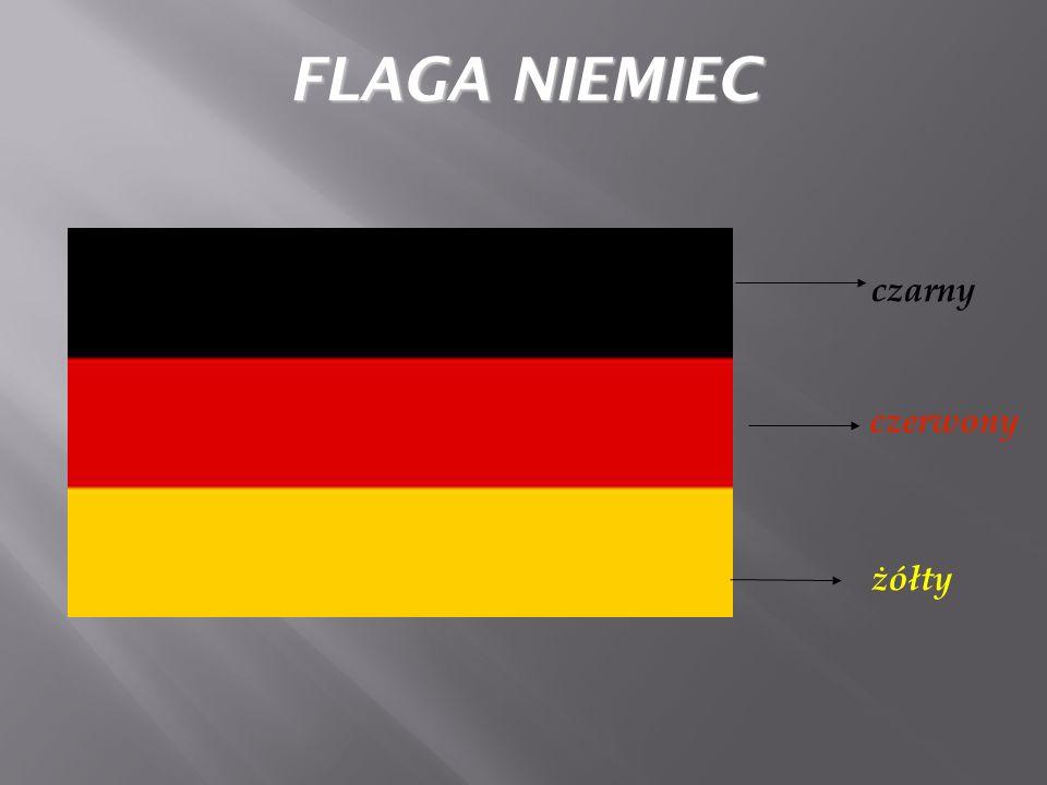 czarny czerwony żółty FLAGA NIEMIEC