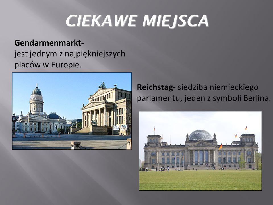 Gendarmenmarkt- jest jednym z najpiękniejszych placów w Europie.
