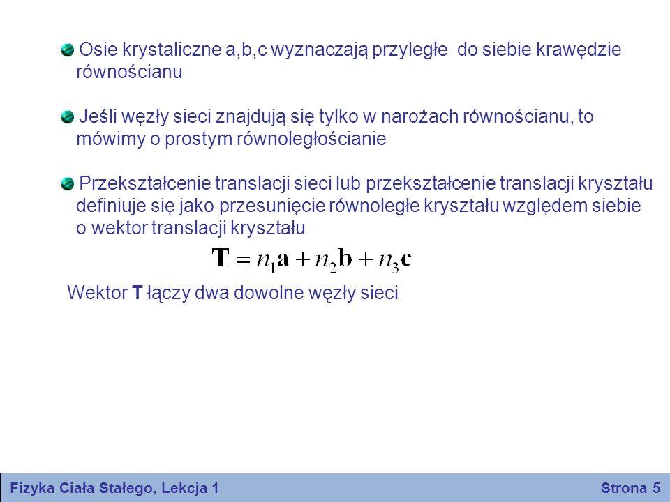 Fizyka Ciała Stałego, Lekcja 1 Strona 6