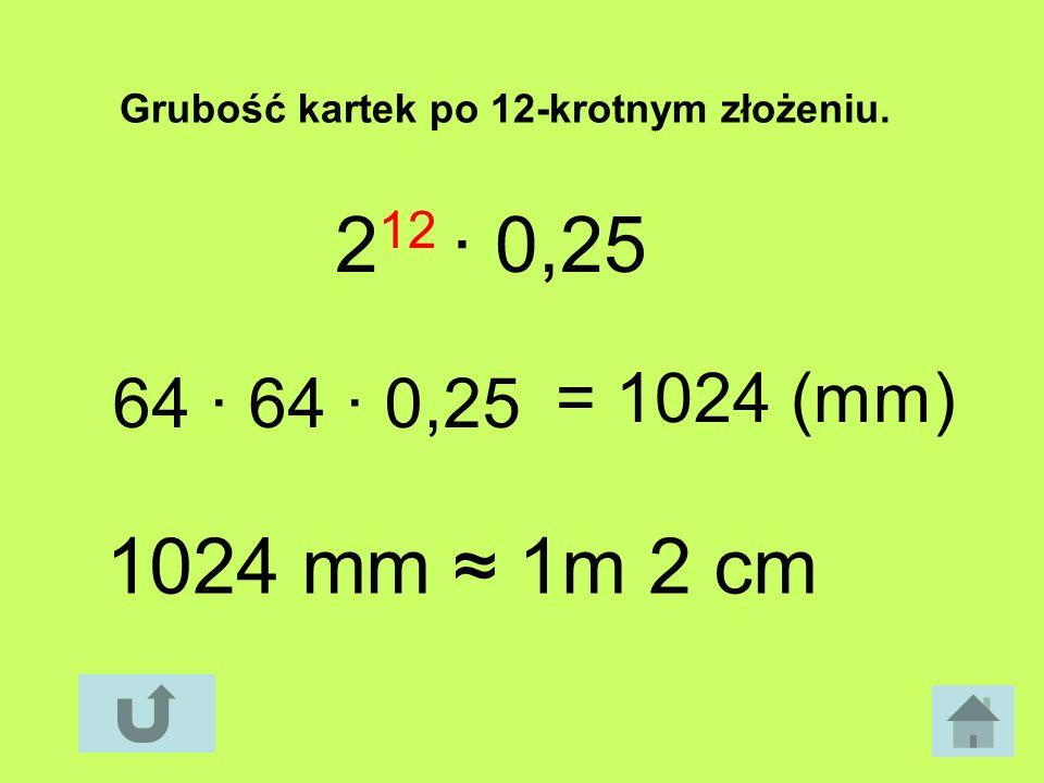 2 12 0,25 64 64 0,25 = 1024 (mm) 1024 mm 1m 2 cm