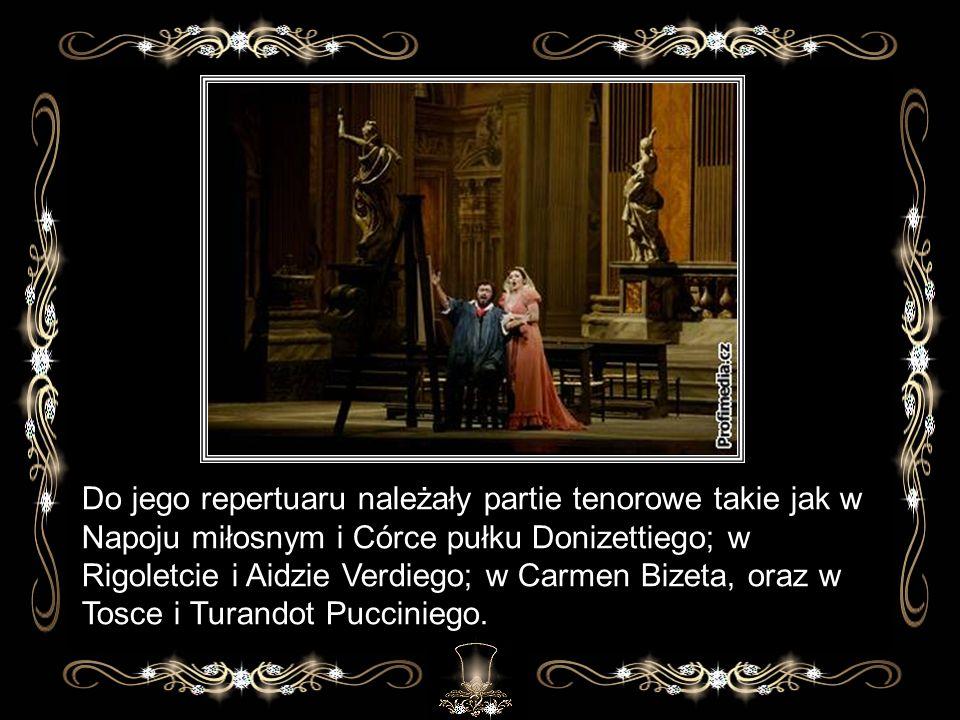 Występował na scenach czołowych teatrów operowych świata.
