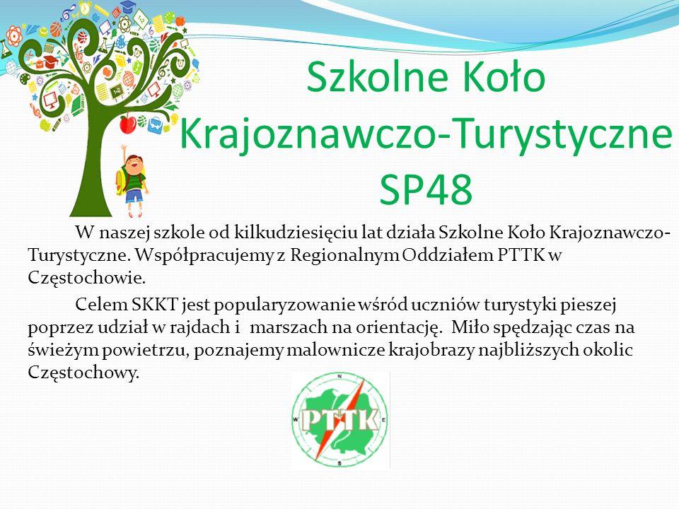 Szkolne Koło Krajoznawczo-Turystyczne SP48 W naszej szkole od kilkudziesięciu lat działa Szkolne Koło Krajoznawczo- Turystyczne.