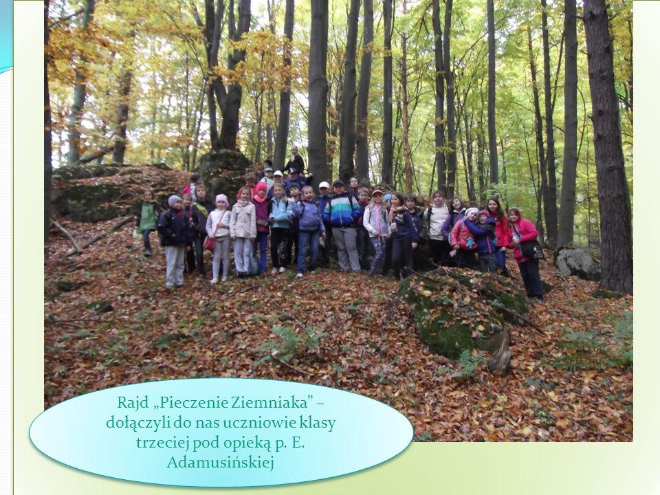 Rajd Pieczenie Ziemniaka – dołączyli do nas uczniowie klasy trzeciej pod opieką p. E. Adamusińskiej