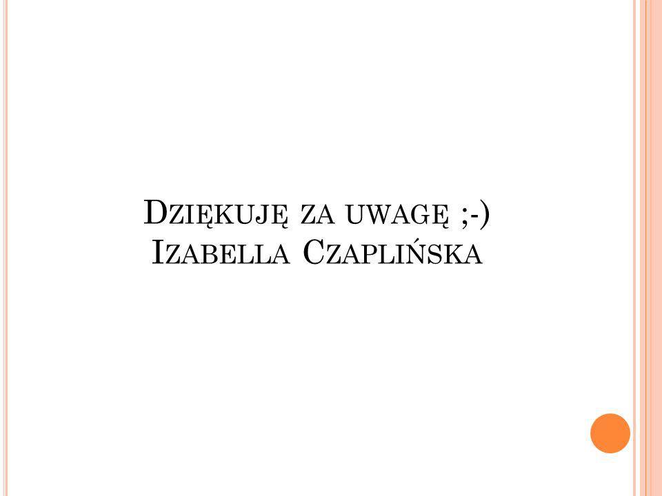 D ZIĘKUJĘ ZA UWAGĘ ;-) I ZABELLA C ZAPLIŃSKA