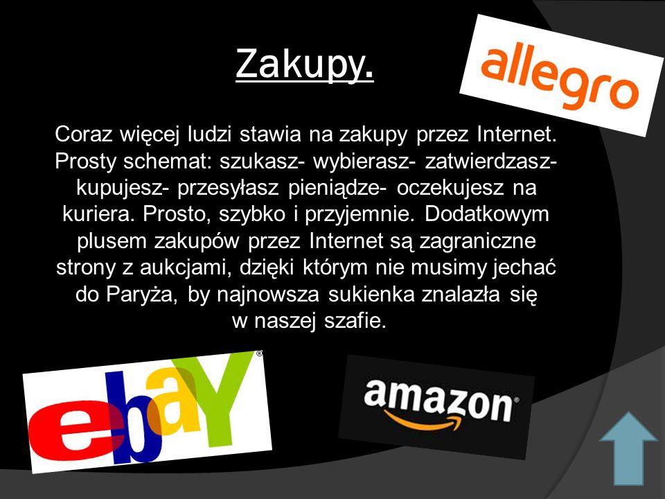 Zakupy.Coraz więcej ludzi stawia na zakupy przez Internet.