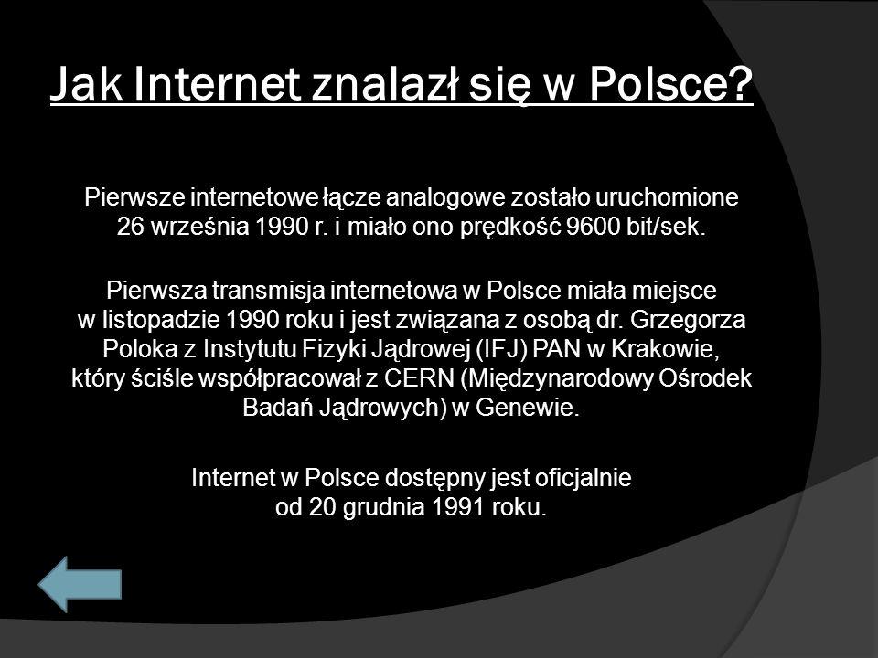 Jak Internet znalazł się w Polsce.