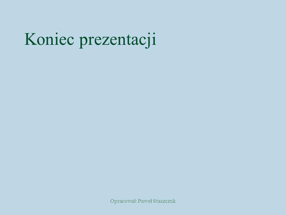 Opracował: Paweł Staszczuk Koniec prezentacji