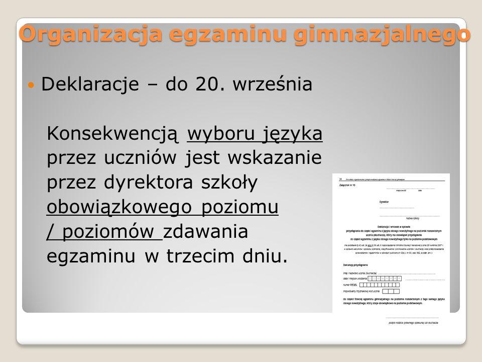 Dokumentacja egzaminu Instrukcja pakowania materiałów egzaminacyjnych z każdej sali 1.