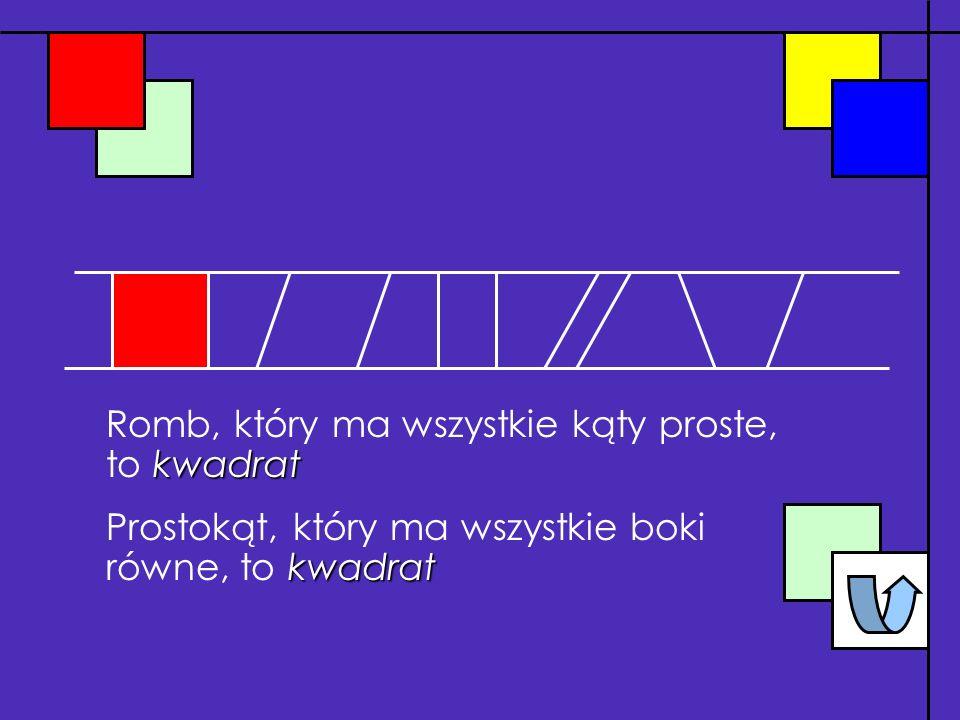 romb Równoległobok, który ma wszystkie boki równe, to romb