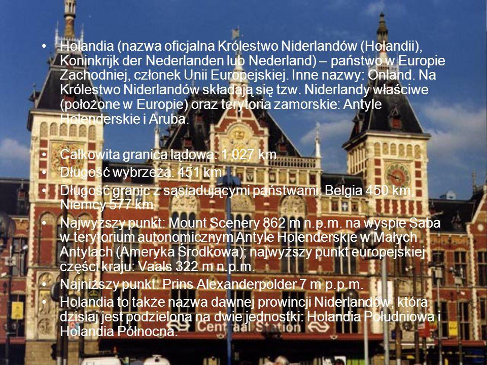 Holandia (nazwa oficjalna Królestwo Niderlandów (Holandii), Koninkrijk der Nederlanden lub Nederland) – państwo w Europie Zachodniej, członek Unii Eur
