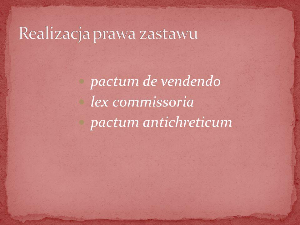 pactum de vendendo lex commissoria pactum antichreticum