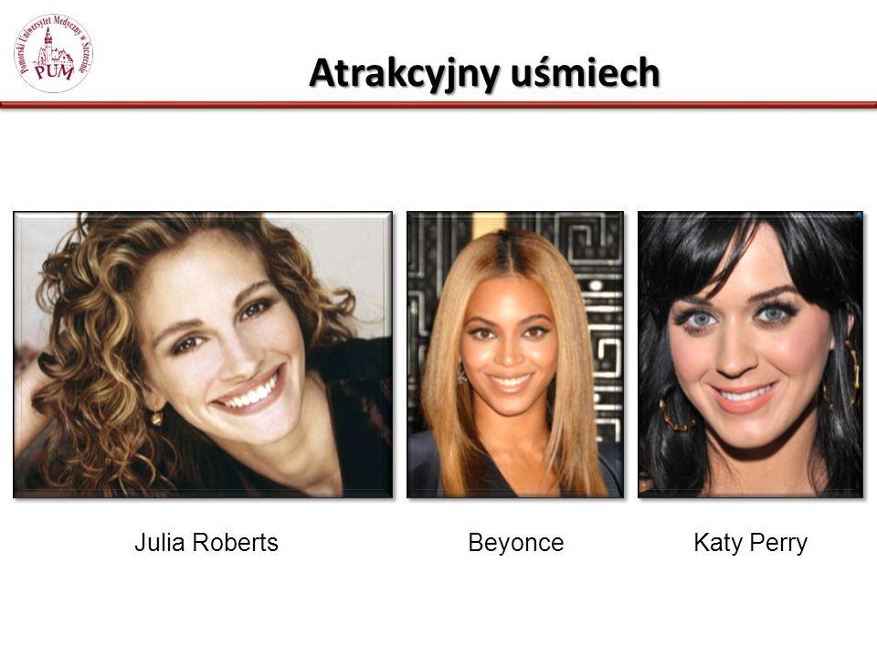 Atrakcyjny uśmiech Julia RobertsBeyonceKaty Perry