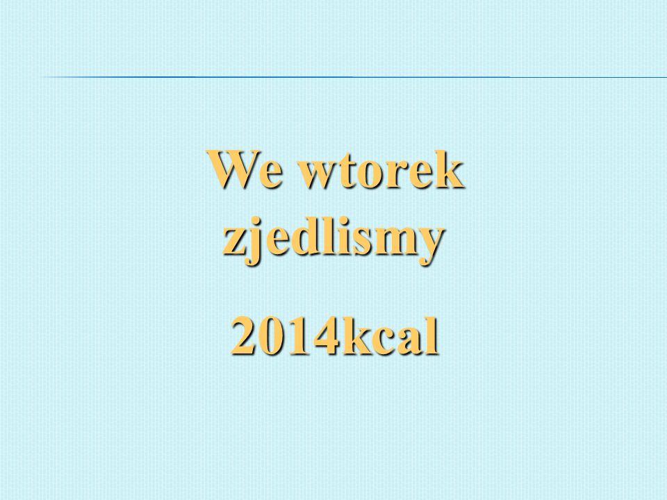 We wtorek zjedlismy 2014kcal