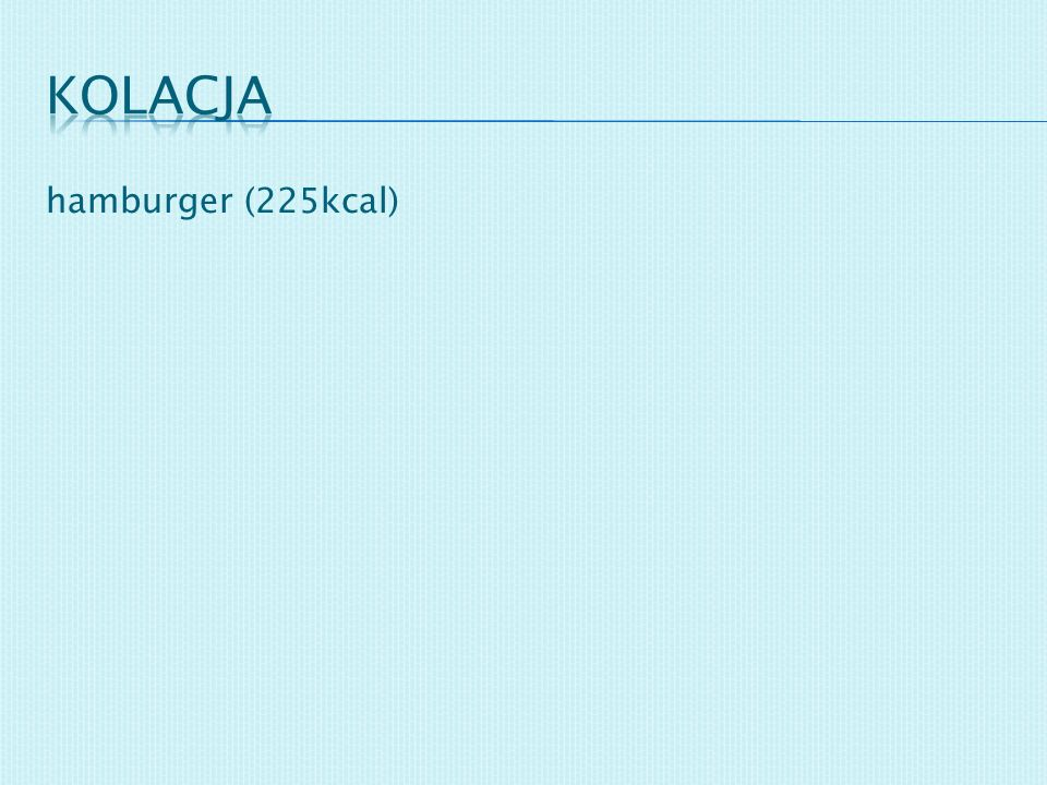 hamburger (225kcal)