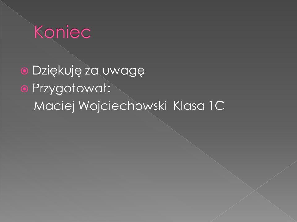 Dziękuję za uwagę Przygotował: Maciej Wojciechowski Klasa 1C