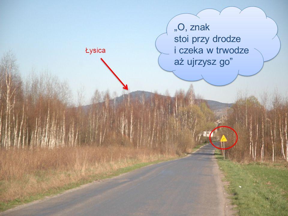 O, znak stoi przy drodze i czeka w trwodze aż ujrzysz go Łysica