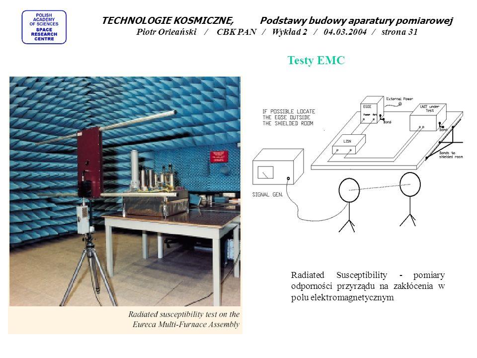 Testy EMC Radiated Susceptibility - pomiary odporności przyrządu na zakłócenia w polu elektromagnetycznym TECHNOLOGIE KOSMICZNE, Podstawy budowy apara