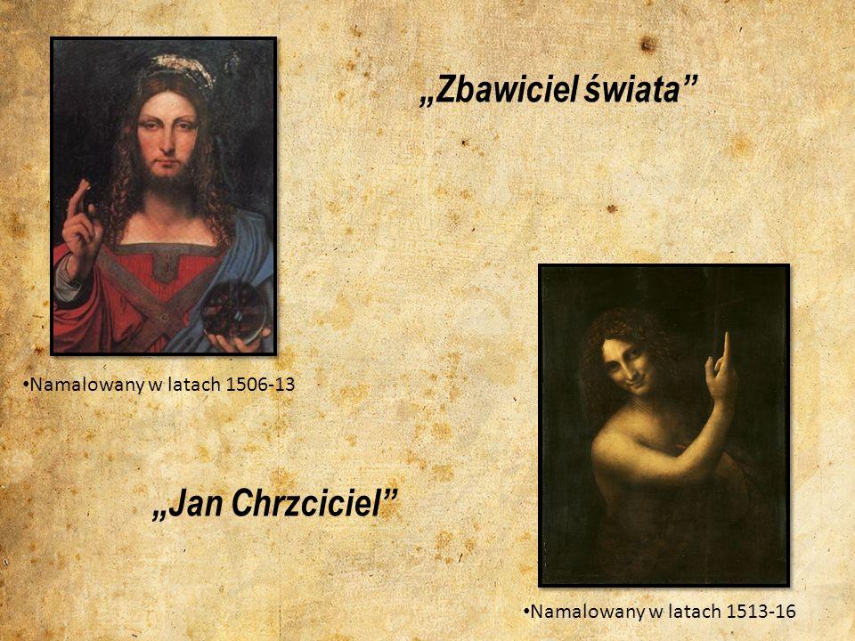 Zbawiciel świata Namalowany w latach 1506-13 Jan Chrzciciel Namalowany w latach 1513-16