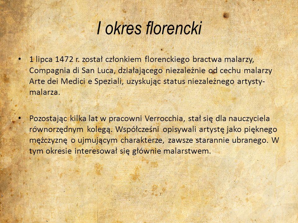 I okres mediolański W 1482 r.