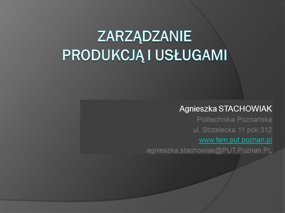 Agnieszka STACHOWIAK Politechnika Poznańska ul. Strzelecka 11 pok.312 www.fem.put.poznan.pl agnieszka.stachowiak@PUT.Poznan.PL