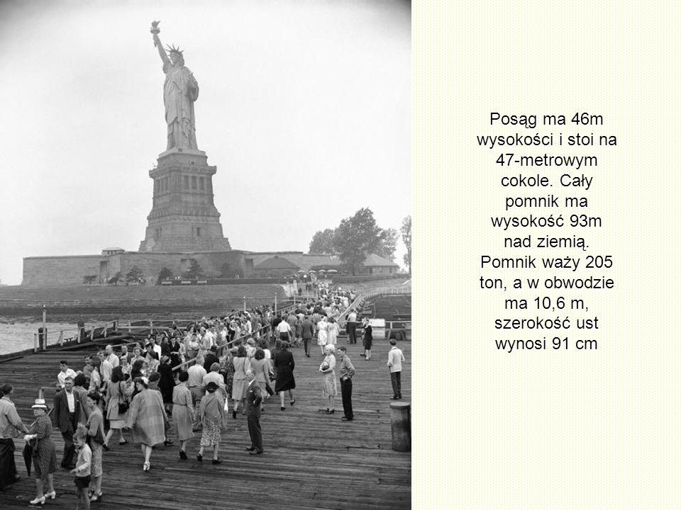 Przed przystąpieniem do montażu dwie rzeźby były w Ameryce oddzielnie wystawione, aby propagować symbol wolności