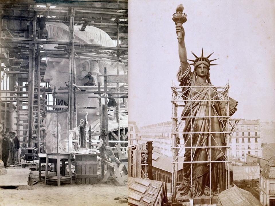 W ciągu ponad stu lat, jaki upłynął od oddania Statuy Wolności, są na niej widoczne znaczne szkodyspowodowane warunkami pogodowymi.