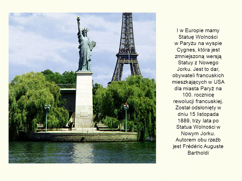 Już ponad sto lat monumentalna Statua Wolności na niewielkiej skalistej wyspie, leżącej u wejścia do portu w północnoamerykańskiej metropolii, pozdraw