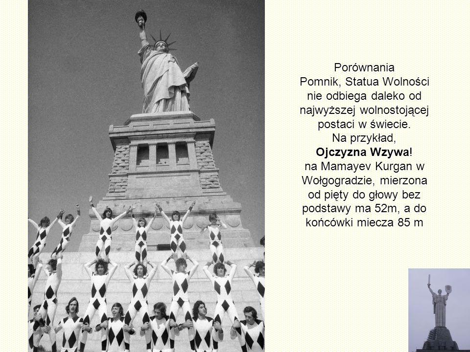 I w Europie mamy Statuę Wolności w Paryżu na wyspie Cygnes, która jest zmniejszoną wersją Statuy z Nowego Jorku. Jest to dar, obywatelifrancuskich mie