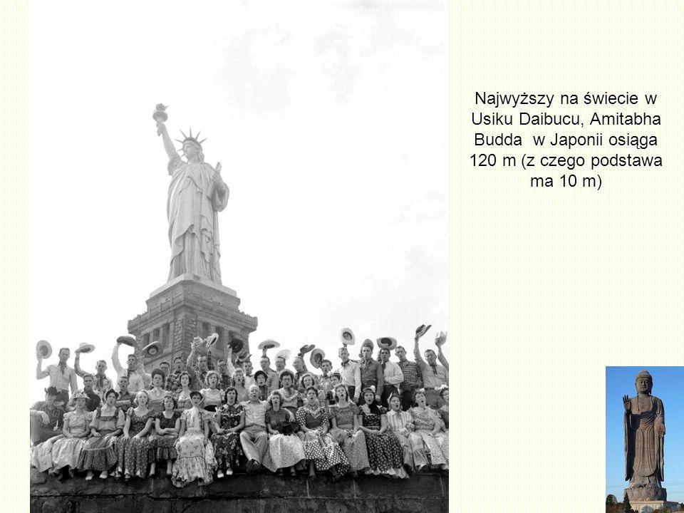 Porównania Pomnik, Statua Wolności nie odbiega daleko od najwyższej wolnostojącej postaci w świecie.
