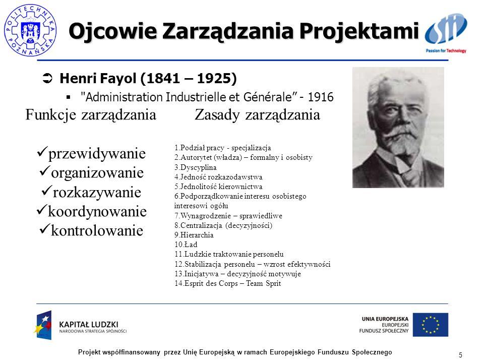 Ojcowie Zarządzania Projektami Henri Fayol (1841 – 1925)