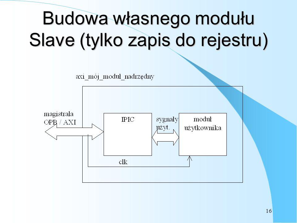 16 Budowa własnego modułu Slave (tylko zapis do rejestru)