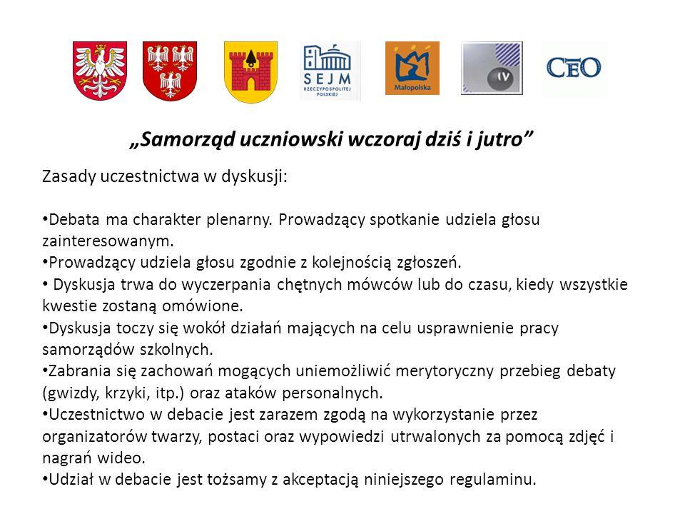 Samorząd uczniowski wczoraj dziś i jutro W jaki spos ó b wybierani są przedstawiciele samorządu.