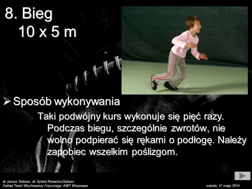 dr Janusz Dobosz, dr Sylwia Nowacka-Dobosz Zakład Teorii Wychowania Fizycznego AWF Warszawa sobota, 17 maja 2014 Sposób wykonywania Sposób wykonywania Taki podwójny kurs wykonuje się pięć razy.